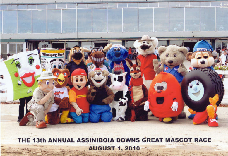 Mascots assembled at Assiniboia Downs, 2010